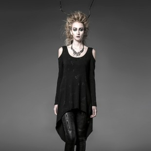 Gothic Black Magnificence Top