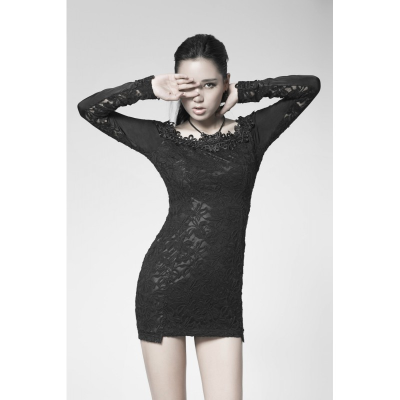 Pleasant Gothic Black Chemistry Dress Punk Rave Hairstyle Inspiration Daily Dogsangcom