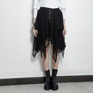 Gothic Black Disordinato Skirt