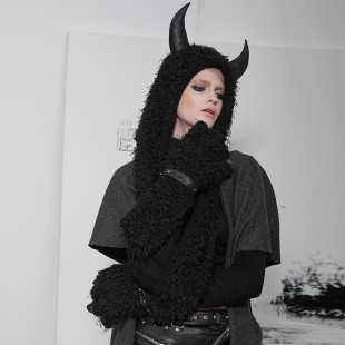Gothic Horn Hat with Gloves