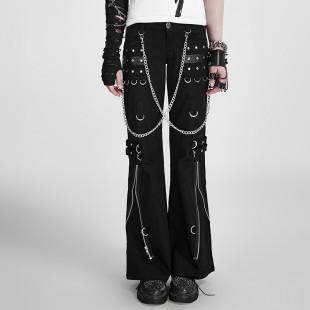 Pantalon chaines et ceinture punk gothique (unisexe)