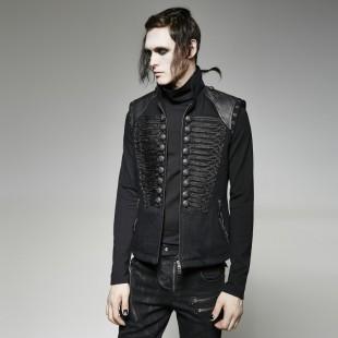 Gothic Black Excess Vest