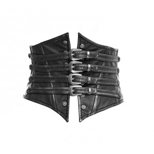 Steampunk Bones Corset - Black and Sliver