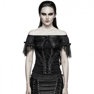 Gothic Mood Top - Black