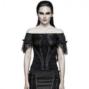 Gothic Mood Top - Black