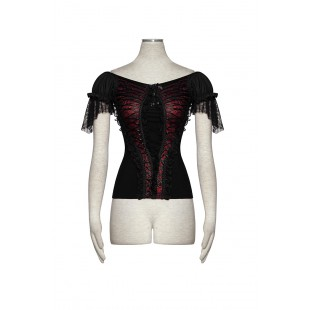 Gothic Mood Top - Black & Red
