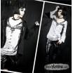 Le T-shirt 'épingle' style Goth-Punk