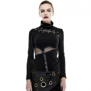 Steampunk Bad Stitches Top - Black