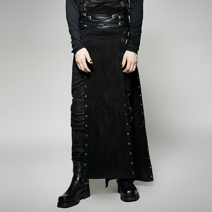 Metallic Personality Skirt - Men
