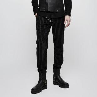 Black March Trousers - Noir Rayé