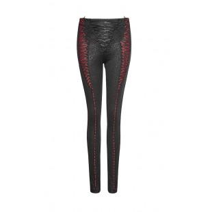 Silky Whisper Leggings - Black and Red