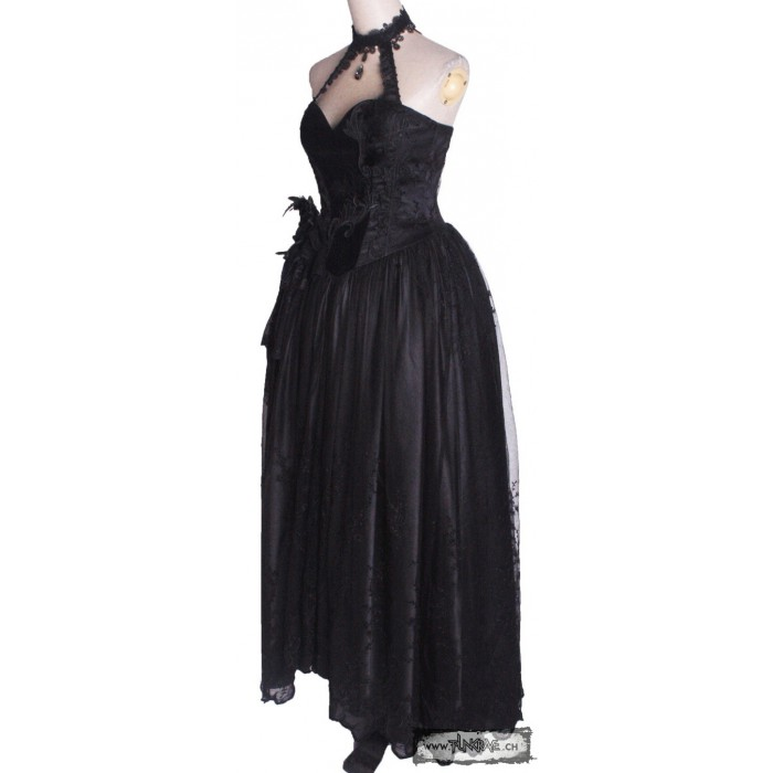 Long Gothic Bustier Dress