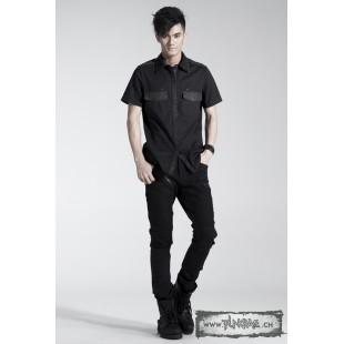 Black gothic skinny jeans