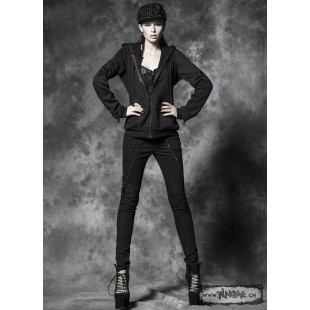 Skull gothic skinny jeans