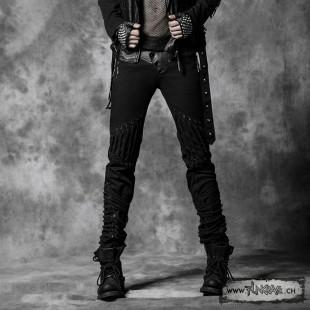Gothic straps skinny jean