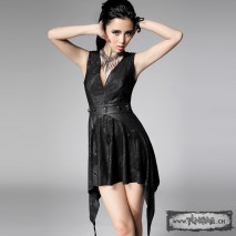 Snake and leather gothic dress