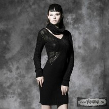 Gothic wool dress