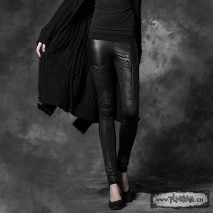 Gothic leather leggings