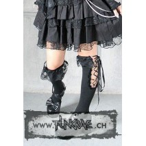 Gothic Lolita White or Black Knee High Cotton or Polyester Lace