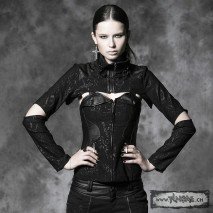 Gothic corset removable top