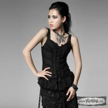 Punk frayed corset