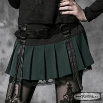 Gothic pleated skirt