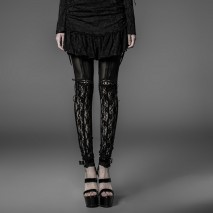 Goth lace garter leggings