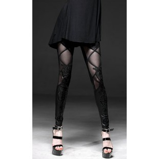 Gothic mesh legging