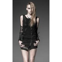 Punk chain mini skirt