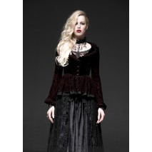 Gothic queen ruffled shirt