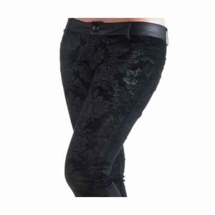 Velvet baroque gothic skinny jeans