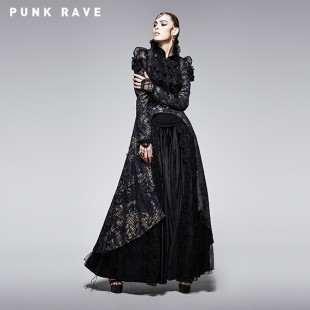 Gothic black and golden printing coat