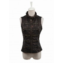 Steampunk Leather Vest