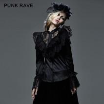 Gothic satin lace blouse