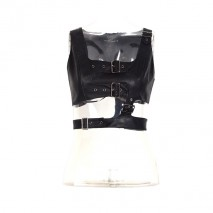 Punk leather crop top