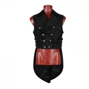 Gothic Dark Printing Tail Vest