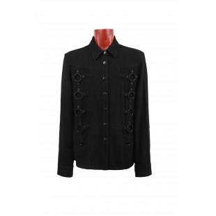 Black Shirt Metal Rings