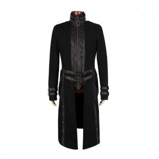 T-Bone High Collar Men Gothic Coat
