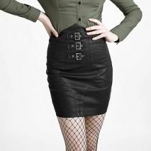Gothic War Uniform High-Waist Skirt