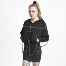 Metal Chain Bat Sweater