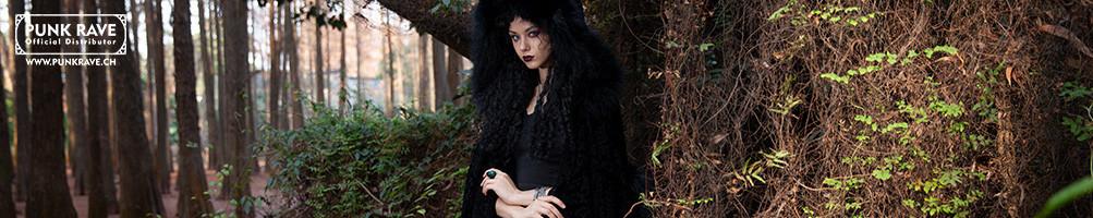 Giacca Punk Rave  per le donne, Capotto Visual kei,Rivestimento  Gothic Lolita , Blazer Punk  e  Peluria Gothic